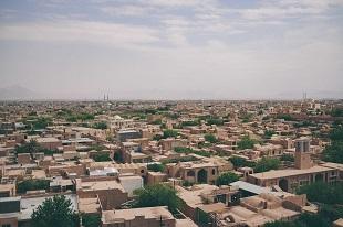 Vue du ciel durant notre circuit combiné Ouzbékistan et Iran