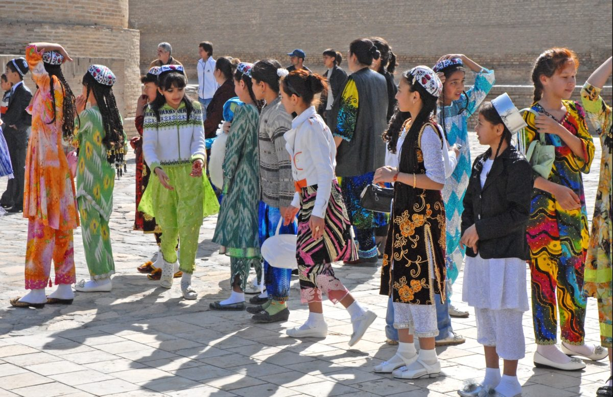 Danseur durant la Fête de Navrouz en Ouzbékistan