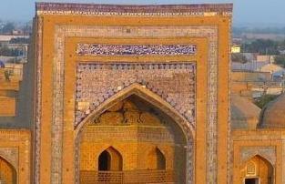 la mosque de Khiva durant notre circuit en Ouzbekistan
